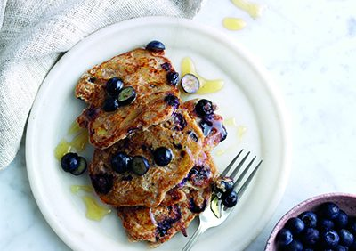 Blueberry And Oat Pancakes