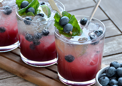 Blueberry Peach Mojito