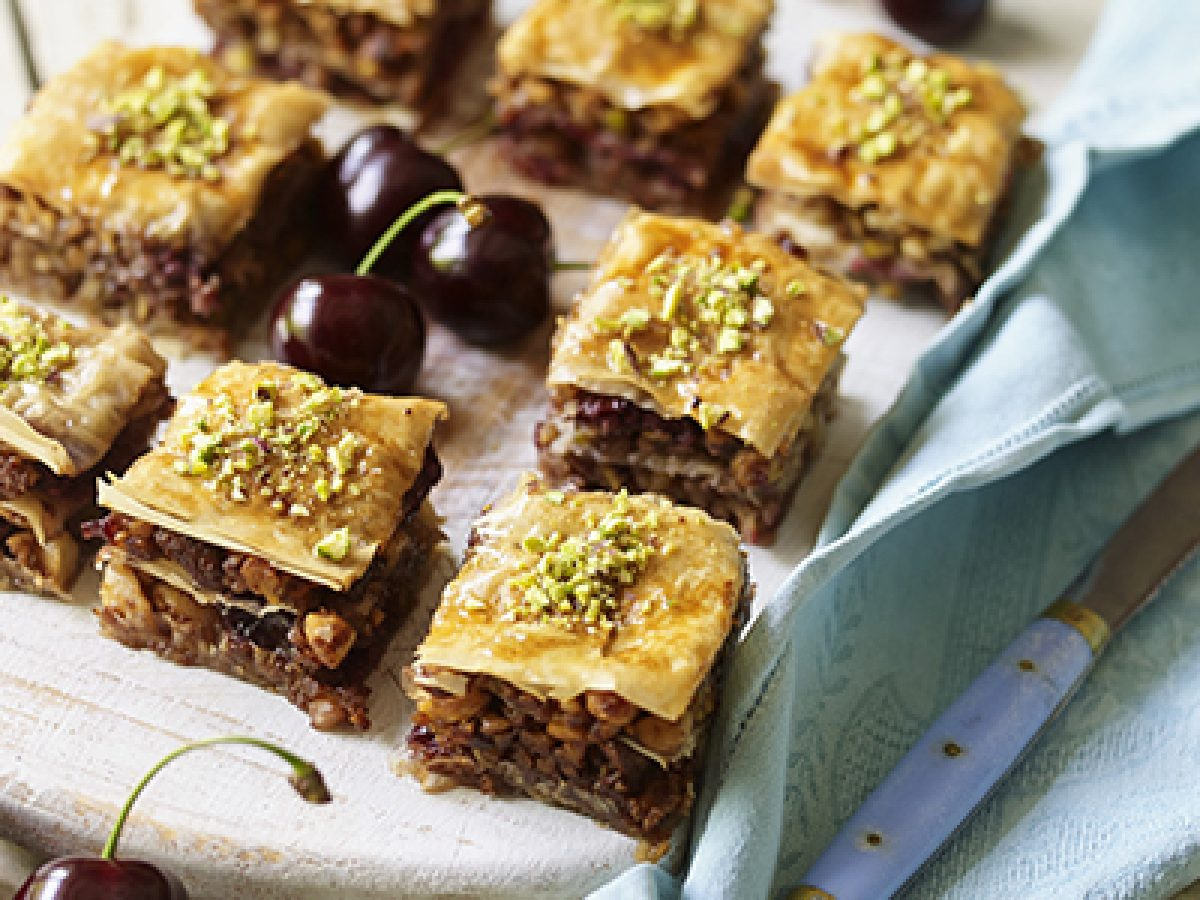 Roasted Walnut Cherry Baklava Recipe Berry People