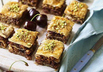 Roasted Walnut & Cherry Baklava